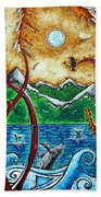 Land Of The Free Original Madart Painting Bath Towel