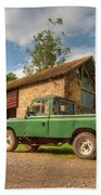 Landrover And The Barn Bath Towel