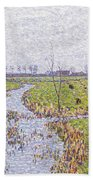 Landscape At Sluis Bath Towel