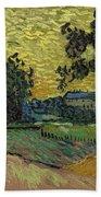 Landscape At Twilight Auvers Sur Oise June 1890 Vincent Van Gogh 1853  189 Bath Towel