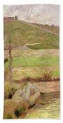Landscape Near Pont Aven Bath Towel