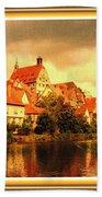 Landscape Scene - Germany. L A With Alt. Decorative Ornate Printed Frame. Bath Towel