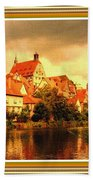 Landscape Scene - Germany L A With Decorative Ornate Printed Frame. Bath Towel
