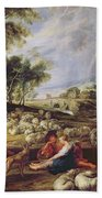 Landscape With A Rainbow Hand Towel