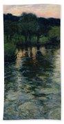 Landscape With A River Bath Towel