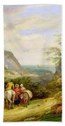 Landscape With Figures And Cattle Hand Towel