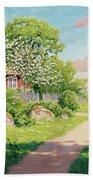 Landscape With Fruit Trees Bath Towel