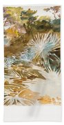 Landscape With Palmettos Bath Towel