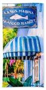Lang's Marina Seafood Market Bath Towel