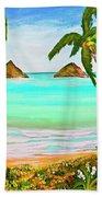Lanikai Beach Oahu Hawaii #358 Bath Towel