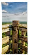 Lapham Peak Wisconsin - View From Wooden Observation Tower Bath Towel