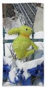 Lapin Vert / Green Bunny Bath Towel