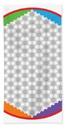 Large 64 Tetra Flower Of Life Hand Towel