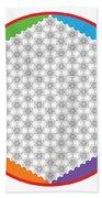 Large 64 Tetra Flower Of Life Bath Towel