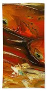 Large Trout Stream Fly Fish Bath Towel