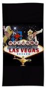 Las Vegas Symbolic Sign Bath Towel
