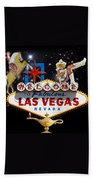 Las Vegas Symbolic Sign Bath Towel