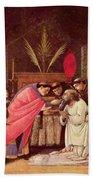 Last Communion Of St Jerome Hand Towel