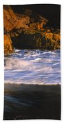Last Light On Harris Beach Bath Towel