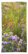 Last Rays Of Sun Light Wildflowers In Moraine Hills Sp Bath Towel