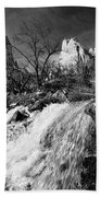 Late Afternoon At The Court Of The Patriarchs - Bw Hand Towel