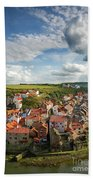 Late Afternoon Light On Staithes Bath Towel