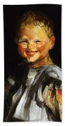 Laughing Child 1907 Bath Towel