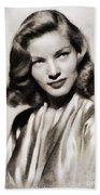 Lauren Bacall, Vintage Actress Bath Towel