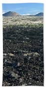 Lava Flow And Schonchin Butte, Lava Beds Nm, California, Usa Bath Towel