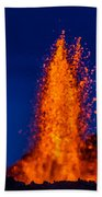Lava Fountains At The Holuhraun Fissure Bath Towel