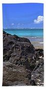 Lava Rocks At Haena Beach Bath Towel