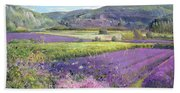 Lavender Fields In Old Provence Bath Towel
