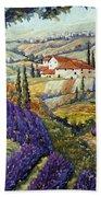 Lavender Fields Tuscan By Prankearts Fine Arts Bath Towel