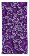 Lavender Fractal  Bath Towel