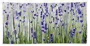 Lavender Patterns Bath Towel