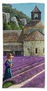 Lavender Picker - Abbaye Senanque - Provence Bath Towel