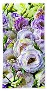 Lavender Ranunculus  Bath Towel
