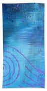 Lavender Spiral  Bath Towel
