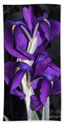 Layered Japanese Iris Hand Towel