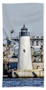 Lazaretto Point Lighthouse Bath Towel