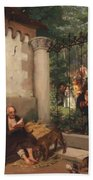 Lazarus And The Rich Man 1865 Bath Towel