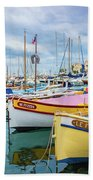 Le Fortune At Nice Harbor, France Bath Towel