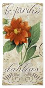 Le Jardin Dahlias Bath Towel