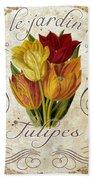 Le Jardin Tulipes Bath Towel