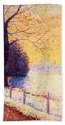 Le Puy In The Snow 1889 Bath Towel