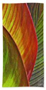 Leaf Abstract 3 Bath Towel