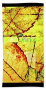 Leaf Abstract Bath Towel