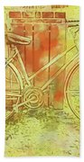 Leaning In Bicycle Bath Towel