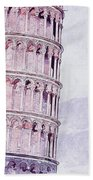 Leaning Tower Of Pisa - 03 Bath Towel
