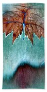 Leaves And Rain 6 Bath Towel
